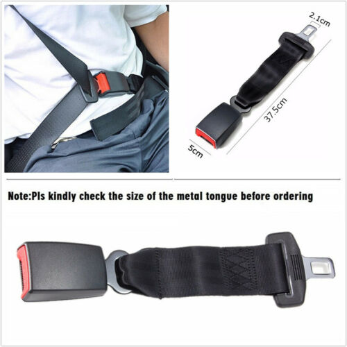 "2 Pcs//Set Car Vehicle Seat Seatbelt Safety Extender Extension Buckle 37.5cm14.8/"""