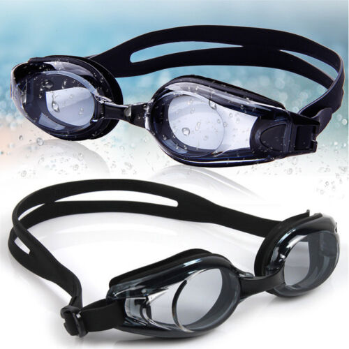 Adult Junior Kids Swimming Goggles Lightweight Anti Fog Myopia Protection Black