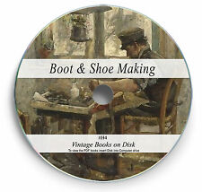 Rare Shoe Making Books on DVD - Vintage Designs Patterns Boots Leather repair H4