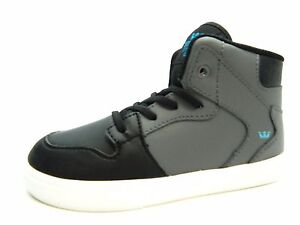 243c1a9f8940 Image is loading SUPRA-TODDLER-VAIDER-CHARCOAL-BLACK-TURQUOISE-KIDS-SHOES-