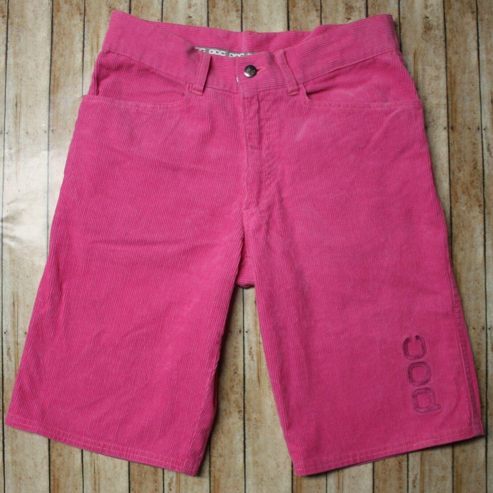 POC Air Shorts Corduroy Cotton Cycling Unisex Mens Womens 28 Pink