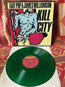 IGGY POP JAMES WILLIAMSON VINYL kill city LP GREEN Vg+/Vg+ STOOGES 1977 KendunA
