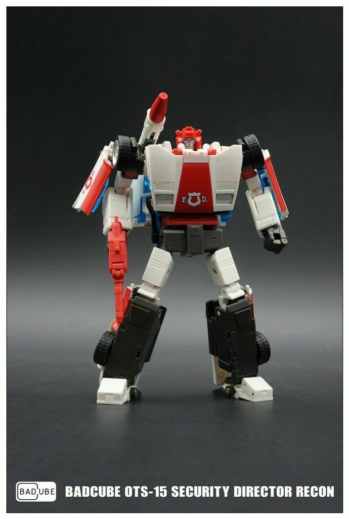 nuovo in Stock Transformers giocattolo BadCube OTS15 Security Directo Recon G1 rossoalert
