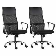 2pc Swivel Ergonomic Adjustable Mesh Office Desk Chair With Lumbar Support Armrest