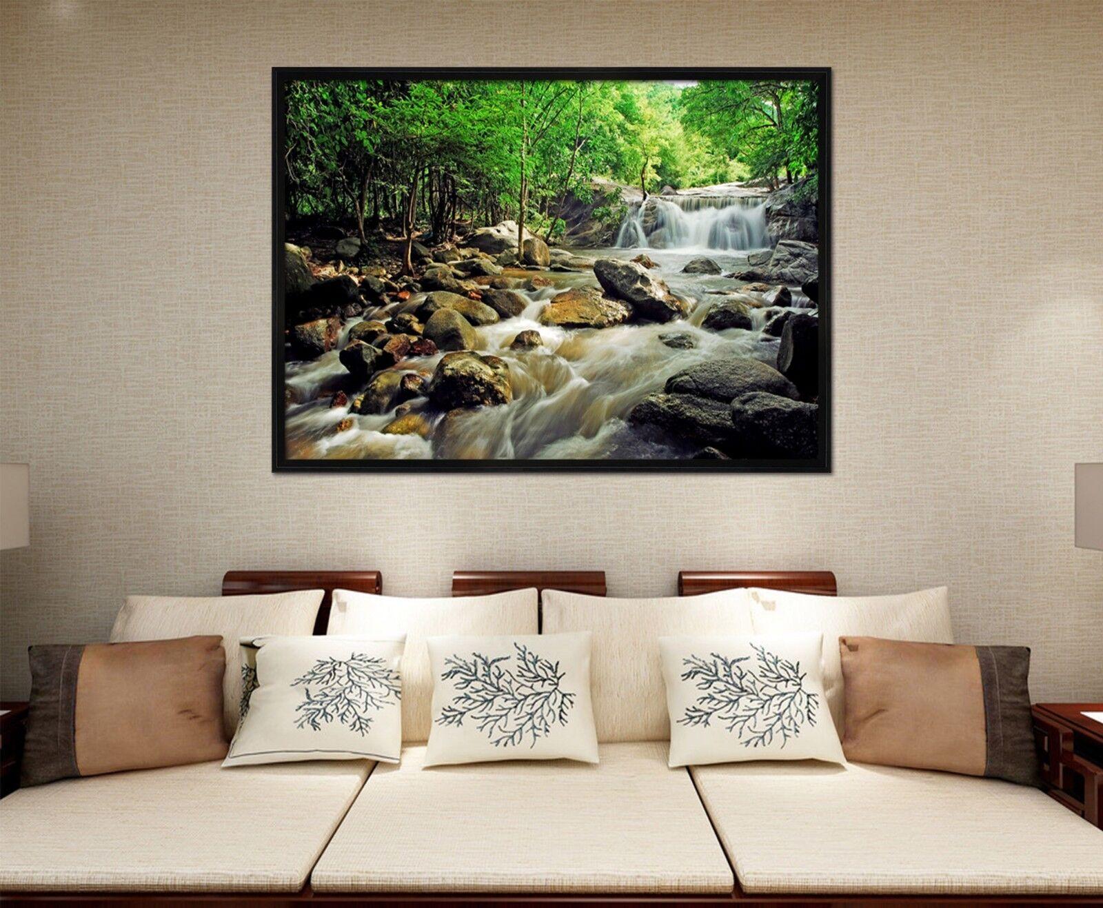 3D Stone Water 6 Framed Poster Home Decor Print Painting Art AJ WALLPAPER