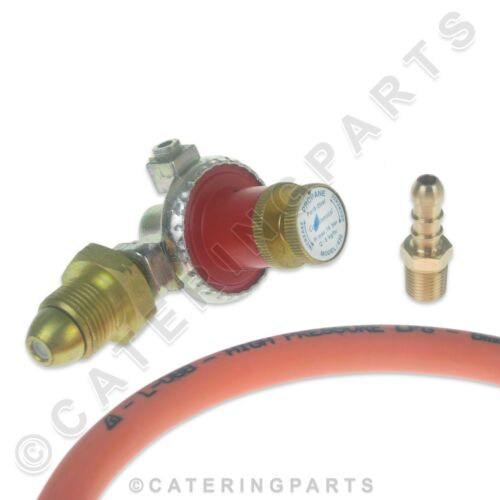 SCREW IN POL PROPANE GAS CYLINDER LPG LP ADJUSTABLE REGULATOR HOSE NIPPLE KIT
