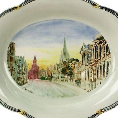 Spencer Edge Hand Painted Vintage Oxford High Street Oval Souvenir Dish c1900