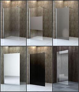 Walk In Duschabtrennung Duschwand Seitenwand Dusche 70-140cm Glas 10mm ESG GLAS
