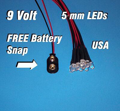 5mm Ultra Bright 9v-12v Pre-Wired Flashing LEDs