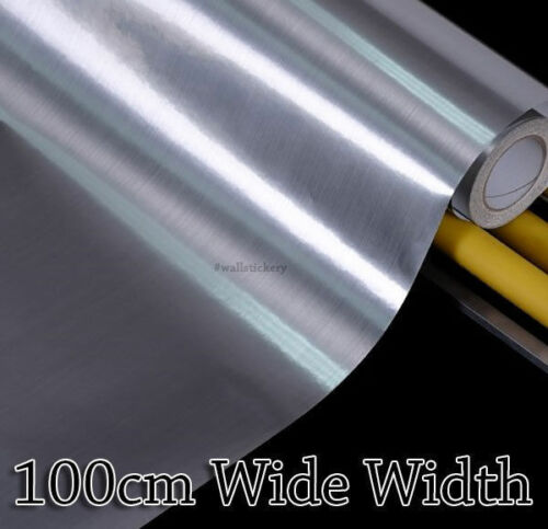 Silver Metal Contact Decorative Paper Cabinet 100cm Wide Glossy Wallpaper Rolls