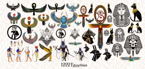 1//12 Scale Waterslide Decals for Action Figure tattoos Egyptian