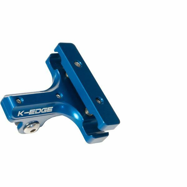 K Edge Go Big Pro Saddle Rail Mount - bluee