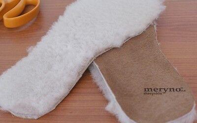 Zapatos De Seguridad, botas de piel de oveja Plantillas 100% Genuino Suave Lana