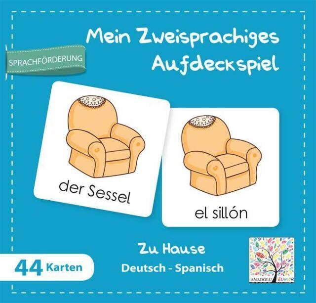 Mein zweisprachiges Aufdeckspiel, Zu Hause Deutsch-Spanisch (Kinderspiel)  Mein