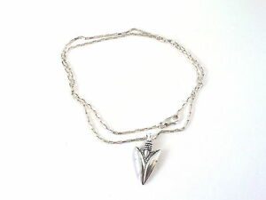 Silver arrowhead pendant on a sterling silver drawn box chain image is loading silver arrowhead pendant on a sterling silver drawn mozeypictures Gallery