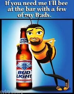 Superior Image Is Loading Funny Bud Light Beer Bee Ad Refrigerator Magnet