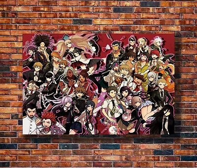 Hot Fabric Poster Danganronpa Anime Manga 36x24 30x20 40x27inch Z3471