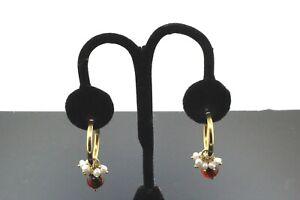 18k-Yellow-Gold-LeGi-Unique-Pearl-amp-Garnet-Earrings-7-6g-30258