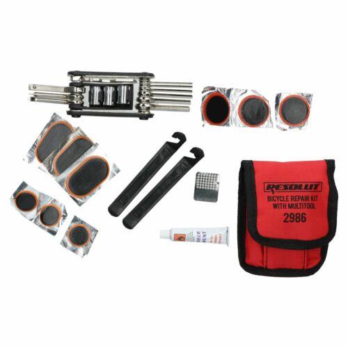 Vélo Bicyclette Multi-outil de fonction clé et tube intérieur Kit anti-crevaison 16pc