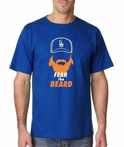 Details about DT-10-31 Dodgers Justin Turner FEAR THE BEARD Tee Orange  Shirt LA World Series d8db5e2302e