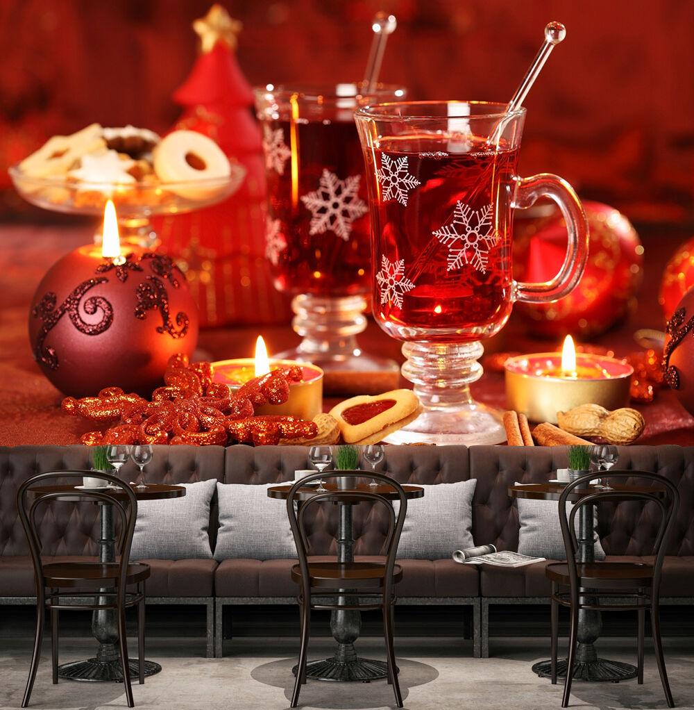 3D Weihnachten Getränke 28 Fototapeten Wandbild BildTapete Familie DE