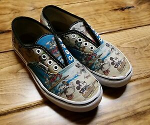 7beb60046752a9 Youth Disney Vans Authentic Mickey Skate Shoe Aloha Hawaiian Boys ...