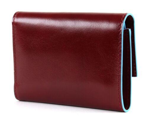 PIQUADRO BLUE SQUARE Wallet with Flap Portafoglio Rosso Rosso Nuovo