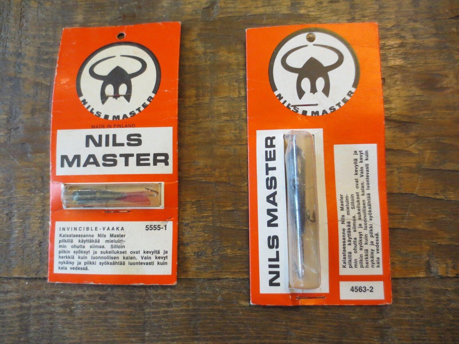 2 NILS Master NIB Vintage Jigs