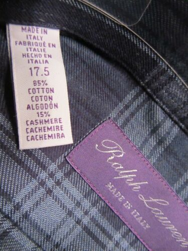 Xl Label 17 9989 44 Kariert cashmere Purple 43 € 495 Inch Lauren Ralph 5 nxSFE