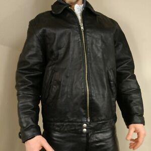 Michael Hoban North Beach Mens Leather Motorcycle Jacket Black