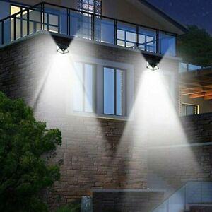 2pcs-Lampe-Solaire-a-100-LED-Detecteur-de-Mouvement-Spots-Eclairage-Mural-Jardin