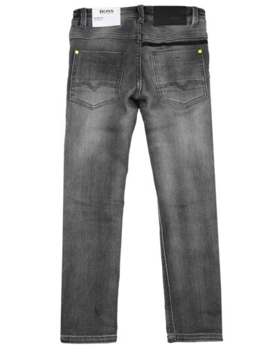 Tailles 6-16 Hugo Boss Garçons Slim Denim Pantalon en Gris