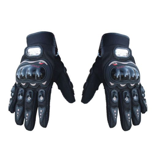Motorcycle Motorbike Cycling Racing Full Finger Gloves Hard Knuckle Protection