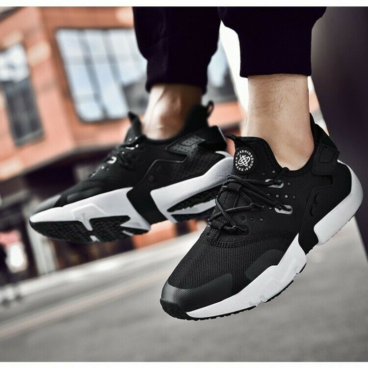 Mens New 2019 Sports Sneakers Running Walking Flats Mesh Breathable SHoes size