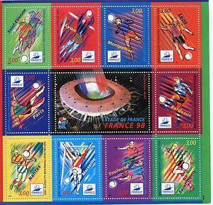TIMBRE-BLOC-FEUILLET-N-19-FOOTBALL-034-COUPE-du-MONDE-98-034-de-1998-COTE-14