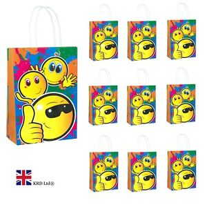 Image Is Loading EMOJI BIRTHDAY PARTY BAGS Kids Baby Goodies Printed