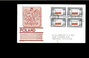 1943-FDC-Overrun-Nations-Poland-Chicago-IL