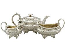 Antique Sterling Silver Three Piece Tea Set by Charles Thomas Fox