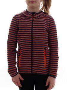 Cmp Veste Polaire Veste Fonctionnelle Tricotée Rayures Orange Knittech