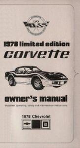 corvette 1978 ltd ed 25th anniversary owners manual ebay rh ebay com 1979 corvette owners manual download 1979 corvette owners manual download