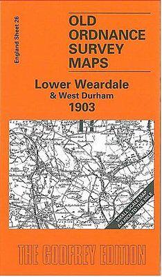 Old Ordnance Survey Detailed Maps Bishop Auckland  Durham1896 Godfrey Edition