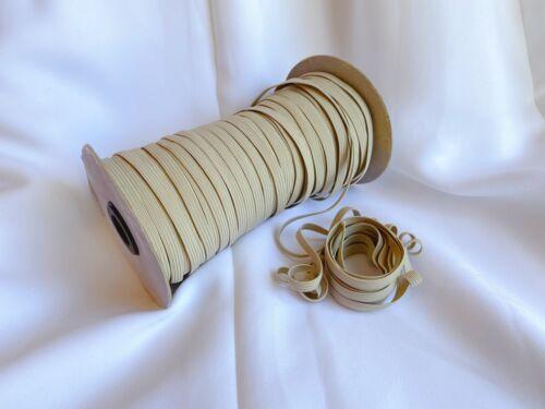 6 mm 10 Yards 1//4 Inch Khaki Elastic Band Trim High Quality