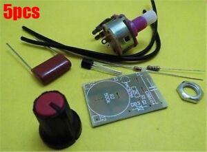 5-Stuecke-100-Watt-Dimmermodul-Mit-Schalter-Geschwindigkeitsregelung-Modul-Kit