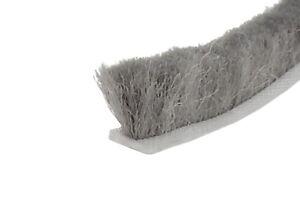 Muster Bürstendichtung SP 4,8 x  9 mm grau Velourbürste zum Einnuten Länge 5 cm