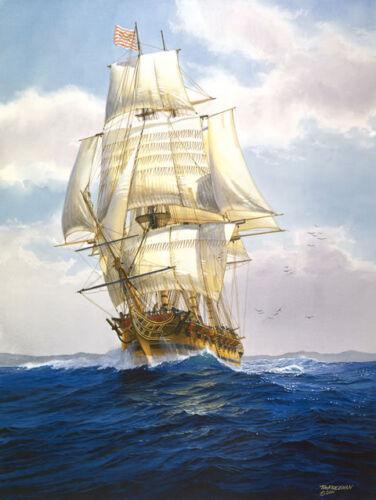 "Continental frigate at Sea 1779 /""The Confederacy/"" Tom Freeman Naval Print"