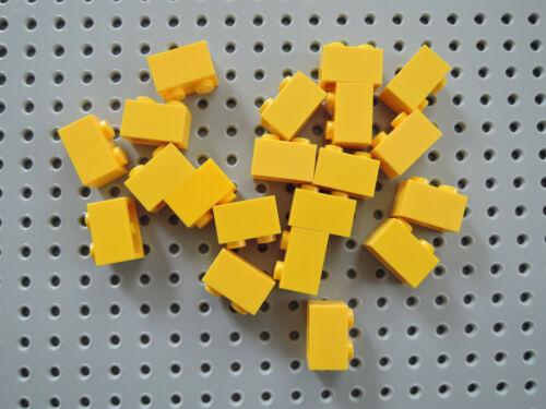 LEGO 20 X PIETRA blocco predefinito Basic 3004 GIALLO 1x2 scanalata