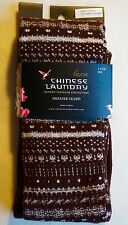 New CHINESE LAUNDRY Luxe Luxury Cotton Blend Bitter Chocolate Sweater Tights M/L
