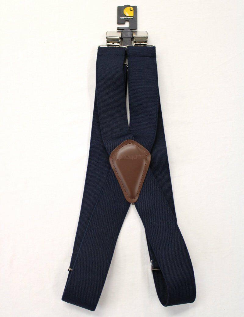 Carhartt Mens Utility Suspenders Navy #45002 Size 52