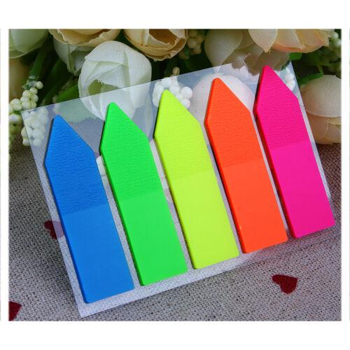 5X Pages Marker Mémo Autocollant Sticky Papier Coloré Bureau Pour Enfant Cadeau