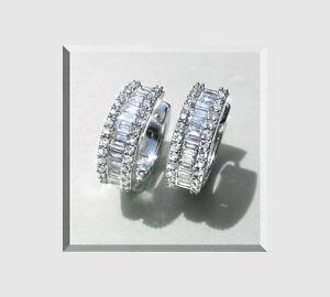 Diamant-Creolen-Diamant-Baguettes-Brillanten18-K-750er-Weissgold-3-70-Karat-Neu